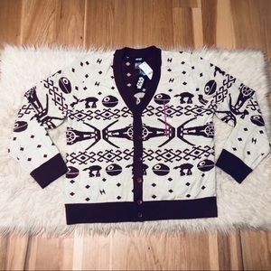 Star Wars Ugly Christmas Sweater Cardigan NEW